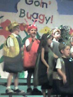 Wyatt at school in a play