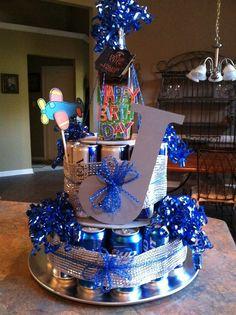 Beer Cake Gift, Beer Bottle Cake, Beer Can Cakes, Beer Gifts, Money Birthday Cake, Adult Birthday Cakes, Birthday Diy, Birthday Parties, Birthday Gifts
