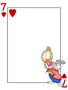 Journal Card - White Rabbit - Alice in Wonderland - Playing Card - 3x4 photo: A little 3x4inch journal card to brighten up your holiday scrapbook! Click on options - download to get the full size image (900x1200px). Clipart belongs to Disney. Font is Card Characters http://haroldsfonts.com/portfolio/card-characters/ ~~~~~~~~~~~~~~~~~~~~~~~~~~~~~~~~~ This card is **Personal use only - NOT for sale/resale/profit** If you wish to use this on a blog/webpage please include credits AND link back…