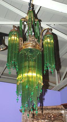 Art Nouveau chandelier - this chandelier has my undying devotion! Antique Lamps, Antique Lighting, Vintage Lamps, Antique Chandelier, Chandeliers, Chandelier Lighting, Cultura Judaica, Lampe Art Deco, I Love Lamp