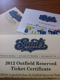 Thank you the St. Paul Saints for being a Bronze-level sponsor of the event, in addition to donating 4 tickets to a game!