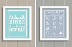 Laundry Room Prints - 5 Color Options 50% off at Groopdealz