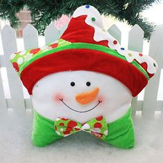TOPUNDER Christmas Cartoon Sofa Bed Home Decoration Festival Pillow Green *** Check out more DIY home decor ideas by visiting the link. Christmas Cushion Covers, Christmas Cushions, Christmas Art, Christmas Stockings, Christmas Ornaments, Nutcrackers For Sale, Nutcracker Image, Home Crafts, Christmas Crafts