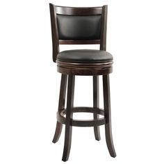 Patio Wood Chair Swivel Stool Furniture 29-Inch Seat Bar Comfort Solid Leather | eBay
