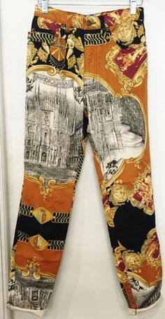 Vintage 90's Moschino Baroque Print Jeans