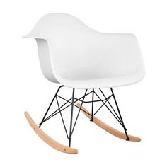 Стол DK STYLE Арт, Люлеещ, Бял - eMAG.bg New Furniture, Pet Shop, Rocking Chair, Modern, Living Room, Appointments, Home Decor, Products, Timber Wood