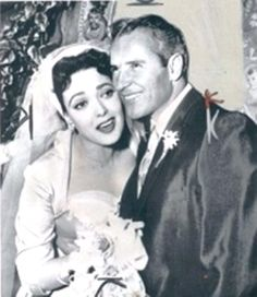 Linda Darnell  and Robbie Robertson 1957