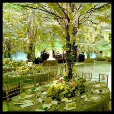 Forest wedding - like the tree idea