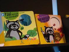 Die Paul Waschbär-Bilderbücher am Stand des Langescheidt Verlags auf der Frankfurter Buchmesse, Oktober 2013.