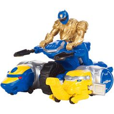 Power Rangers Ultra Blue Ranger Action Figure and Zord Vehicle Play Set