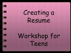 What Teenagers Can Put on Their Resume | College // Tips & Life ...