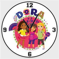 Dora ve Arkadaşları - Kızlar Kendin Tasarla - Duvar Saati 27cm