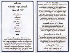 Class Reunion Memorial Table Ideas a44c903de239ff6ba75b88c942388587 30th Reunion Program Class Reunion Ideas