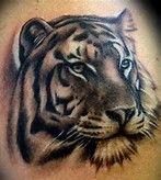 Tiger Tattoos And Meanings- Tiger Tattoo Designs And Ideas Bild Tattoos, Hot Tattoos, Body Art Tattoos, Tatoos, Tiger Tattoodesign, Tiger Head Tattoo, Tattoo Designs, Tiger Pictures, Worlds Best Tattoos