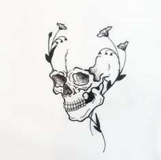 Cool Skull Tattoos For Women – My hair and beauty Skeleton Tattoos, Skull Tattoos, Mini Tattoos, Body Art Tattoos, Sleeve Tattoos, Art Drawings Sketches, Tattoo Sketches, Tattoo Drawings, Tattoo Flash Art