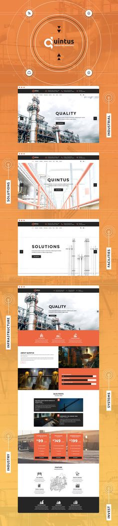 Quintus - Industrial & Engineering WordPress Theme by modeltheme   ThemeForest Wordpress Premium, Industrial Engineering, Construction Theme, 404 Page, Jobs Apps, Wordpress Theme, Social Media, Behance, Casual