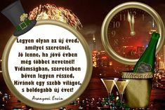 szilveszter, újév, BUÉK, képeslap, képek, vers, Evo, Happy New Year, Diy And Crafts, Xmas, Christmas, Good Things, Holiday, Advent, Google
