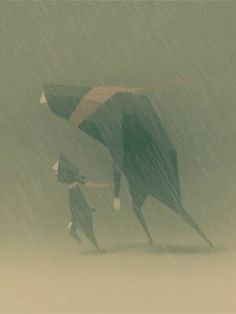 Rainy Day~~animation from 'Between Bears' (Eran Hilleli, Anim Gif, Gif Animé, Animation Reference, Animation Film, Stop Motion, Gifs, Animated Cartoons, Animated Gif, Low Poly