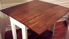 DIY Drop Leaf Kitchen Island / Cart - Bachelor on a Budget Drop Leaf Kitchen Island, Kitchen Island Table, Kitchen Island Do It Yourself, Small Kitchen Tables, Kitchen Ideas, Drop Down Table, Diy Outdoor Table, Furniture Plans, Home Decor Inspiration