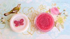 DIY strawberry, honey and sugar lip scrub