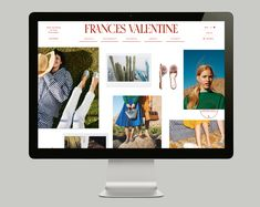 Website design for Frances Valentine in collaboration with Adam Widmanski at Praesens. Graphic Design Branding, Logo Design, Minimal Website Design, Web Design, Web Layout, Mobile Design, Typography, France, Ui Ux
