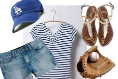 Cute outfit for a Dodger game.