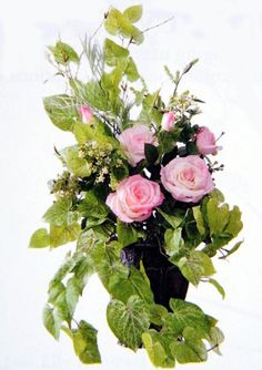 Tuscan Silk Flower Arrangement Pink Roses
