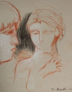Buy Sketch with Elizabeth, Profile of Griffin, and Elliot's Hand, Pastel drawing by Noé Badillo on Artfinder. Discover thousands of other original paintings, prints, sculptures and photography from independent artists.