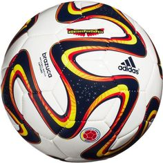 adidas WC World Cup 2014 Brazuca COLOMBIA Soccer Ball Brand New White / Yellow