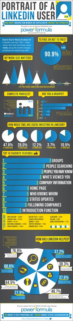 Portrait of a LinkedIn user #infographic