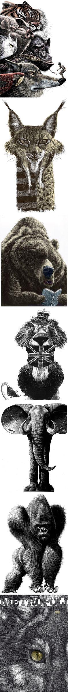 Les dessins et illustrations satiriques hallucinantes de Ricardo Martinez (Espagne).