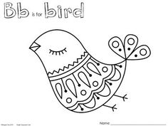 Bb is for bird - Coloring Pages $