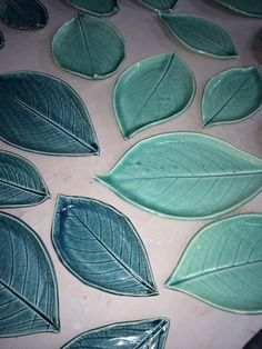 A new batch of these hydrangea leaf dishes are in process!
