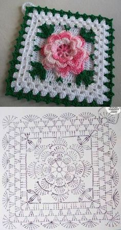 Tack with a flower knitted a hook. A beautiful tack for kitchen a hook rose, crochet, can be a nice d - Salvabrani Another inspiring and simple c This Pin was discovered by Cla Shrink your URLs and get paid!Handmade shabby chic crochet tablet cover w Col Crochet, Crochet Puff Flower, Crochet Doily Diagram, Crochet Flower Patterns, Crochet Chart, Crochet Blanket Patterns, Crochet Motif, Crochet Flowers, Crochet Pillow