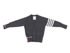 Classic Cashmere Cardigan in Gray from Thom Browne