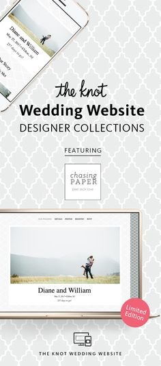 """""""The Knot Wedding Website Designer Collection: All-in-One Registry, Guest Tools & More�Browse Designs and Create Your Page For Free"""""""