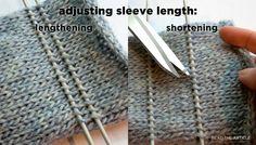 adjusting sleeve lenght