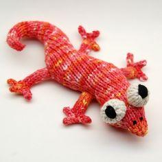 Eddie Lizzard Amigurumi Plush Toy Knitting Pattern