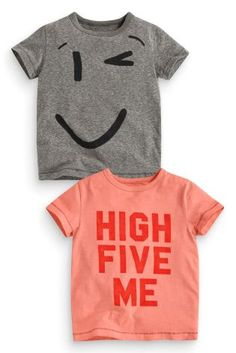 Buy Two Pack High Five T-Shirts (3mths-6yrs) online today at Next: United States of America
