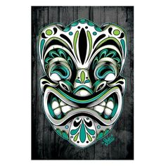 Day of The Dead Tiki by Jime Litwalk Tattoo Art Print New School Animated Style | eBay