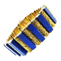 Shop diamond and gold link bracelets and other vintage and antique bracelets from the world's best jewelry dealers. Antique Bracelets, Gemstone Bracelets, Gemstone Necklace, Jewelry Bracelets, Jewlery, Gold Link Bracelet, Link Bracelets, Royal Blue And Gold, Blue Gold