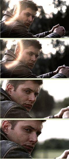 [GIFSET] One of the best screen shots of Jensen, ever! Dean, 2x03 Bloodlust.