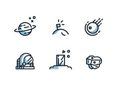 Space Icons by Carl Henriksson
