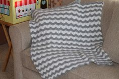 Free knitting pattern: Chevron Blanket by Stitches by Debbie