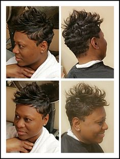 Hair by Terrie Bosslady Branch! Perfect Styles Beauty and Barber Salon Newport news va!  Waves and spikes w Www.styleseat.com/TerrieBranch