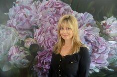 MARCELLA KASPAR L'HEURE BLEUE on Art.Base.BASE Art Base, Types Of Art, Paint Brushes, Flower Art, Peonies, Flowers, Artist, Plants, Oil Paintings