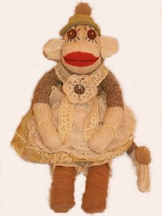 A Vintage Sock Monkey. These are my favorites.