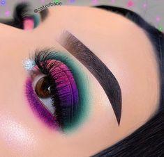 Black Makeup Looks, Makeup Eye Looks, Eye Makeup Art, Pretty Makeup, Eyeshadow Makeup, Makeup Inspo, Makeup Inspiration, Bright Eye Makeup, Colorful Eye Makeup