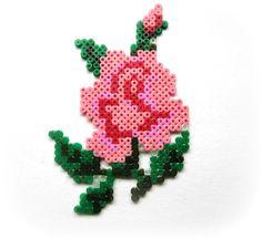 Hama Perler Bead Rose