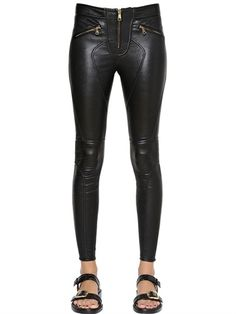 GIVENCHY - STRETCH NAPPA LEATHER PANTS - LUISAVIAROMA - #style #fashion #leather #pants #trousers